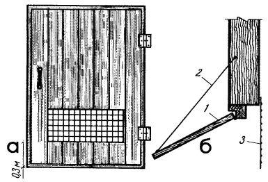 Рис. 6. Дверь погреба с люком