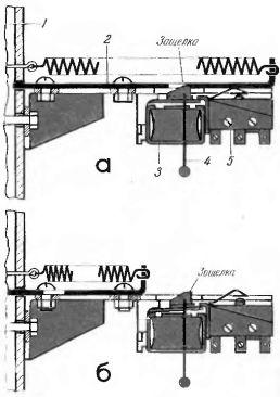 Рис. 4. Механизм закрытия заслонки с пружинным приводом