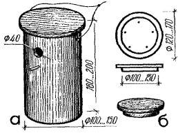 Рис. 5. Кормовой домик из пластмассовой трубы