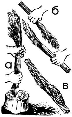 Рис. 5. Так формируют пучок из тростника