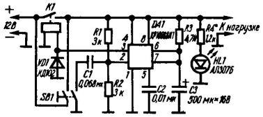 Рис. 3. Электрическая схема таймера