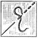 Рис. 2. Шов «вперед иголку»