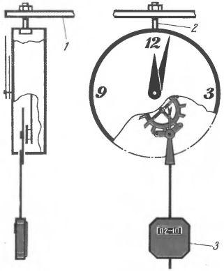 Рис. 2. Будильник, подвешенный под полкой