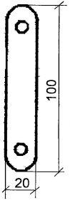 Рис. 4. Планка для крепления