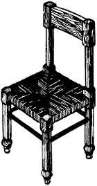 Рис. 4. Стул с заплетенной рамкой