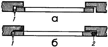 Рис. 1. Уменьшение щелей между створкой и переплетом с помощью рейки