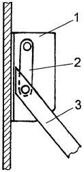 Рис. 5. Узел крепления лестницы к стене
