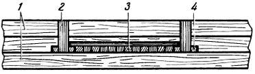 Рис. 8. Крепление щита на потолочных балках