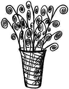 Рис. 2. Букет из веток в вазе