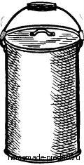 Рис. 2. Крышку ведра прижимают резиновые трубки на ручке