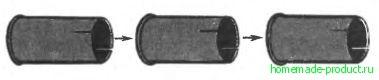 Рис. 3. Коленца трубы из банок