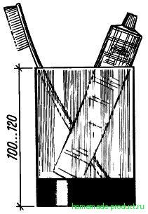 Рис. 5. Стакан для зубной щетки из бутылки с донышком-опорой