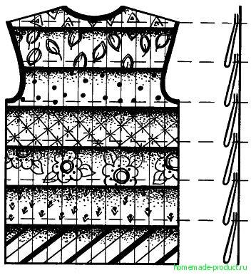 Рис. 6. Безрукавка со спины
