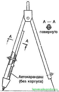 Рис. 5. Циркуль из измерителя