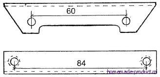 Рис. 3. Кронштейн (уголок) для крепления двигателя