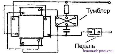 Рис. 4. Схема подключения двигателя