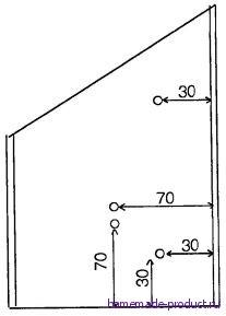 Рис. 14. Разметка крышки ящика для крепления подставок