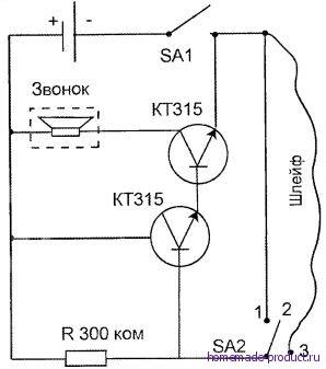 Рис. 2. Схема охранной сигнализации