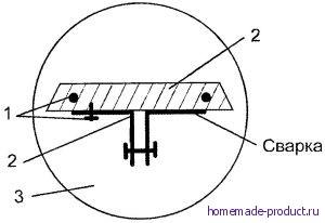 Рис. 3. Крепление пилки к поршню компрессора (пилка отсутствует)