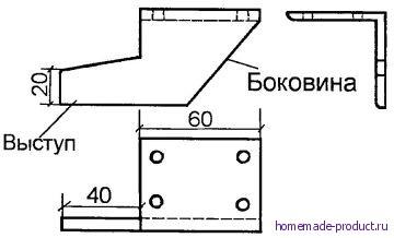 Рис. 5. Боковые фиксаторы для соединения платформы (ящика) с тележкой