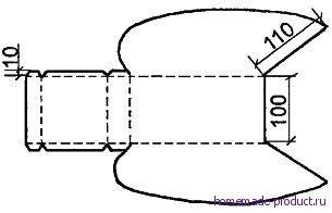 Рис. 2. Развертка части комбайна согнутой из жести