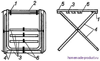 Рис. 1. Самодельный раскладной столик