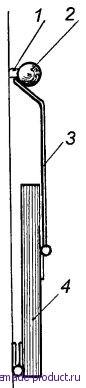 Рис. 4. Кронштейн в нерабочем положении
