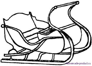 Рис. 13. Сани легкие с фасонным кузовом