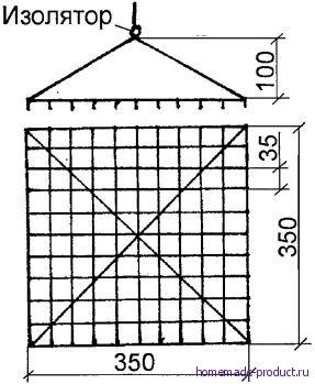 Рис. 1. Конструкция электроффлювиальной лампы