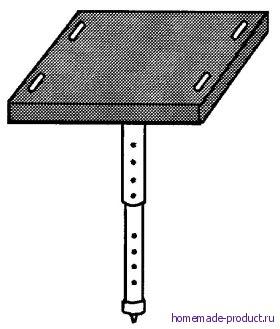 Рис. 2. Одноногий стул с выдвижной ножкой