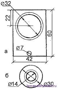 Рис. 4. Верхняя (а) и нижняя (б) прокладки