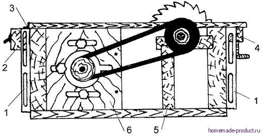 Рис. 3. Вид станка сбоку (без столика для долбления)