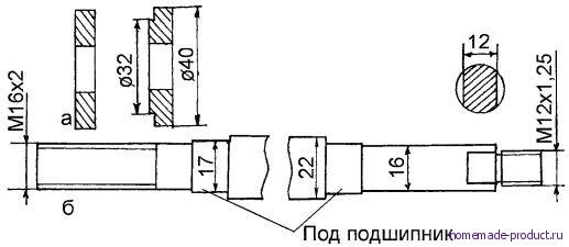 Рис. 4. Точеный вал (общая длина 400 мм)