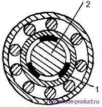 Рис. 5. Болт-вал пришлось центрировать с помощью пластинок