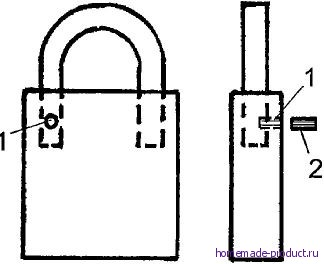 Рис. 2. Замок с секретом