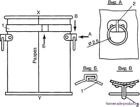 Рис. 2. Разжимная цилиндрическая форма для выпечки куличей