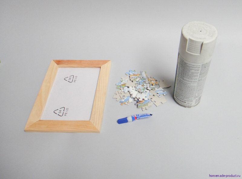 Рамка для пазла своими руками фото