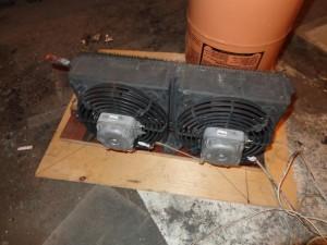 Воздушные испарители от холодильной установки с вентиляторами