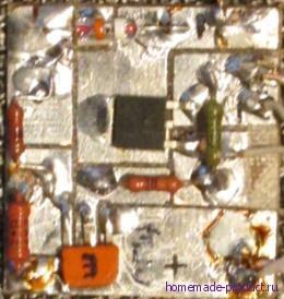 Рисунок 3. Плата блока контроля АКБ с электронными компонентами