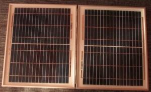 Солнечные панели вид спереди