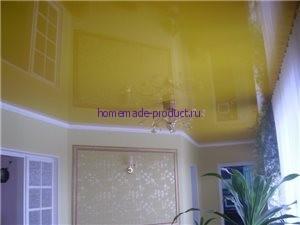 Пример применения натяжного потолка в квартире