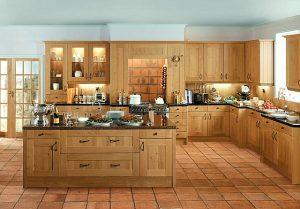 Кухонные гарнитуры из дуба